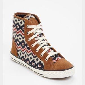 Tory Burch Noah Knit High Top Sneakers Size 6